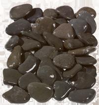 Flat Grey Pebbles Wet
